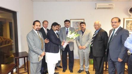 District Governor Dr. Pervez Ahsan's Official Visit