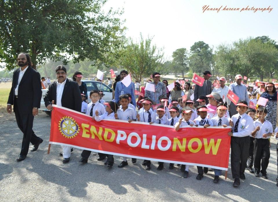 Polio NID & Walk at Saint Mary's Academy, Lalazar.